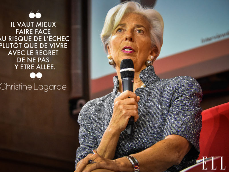 Christine Lagarde at ELLE Active! Paris 2019