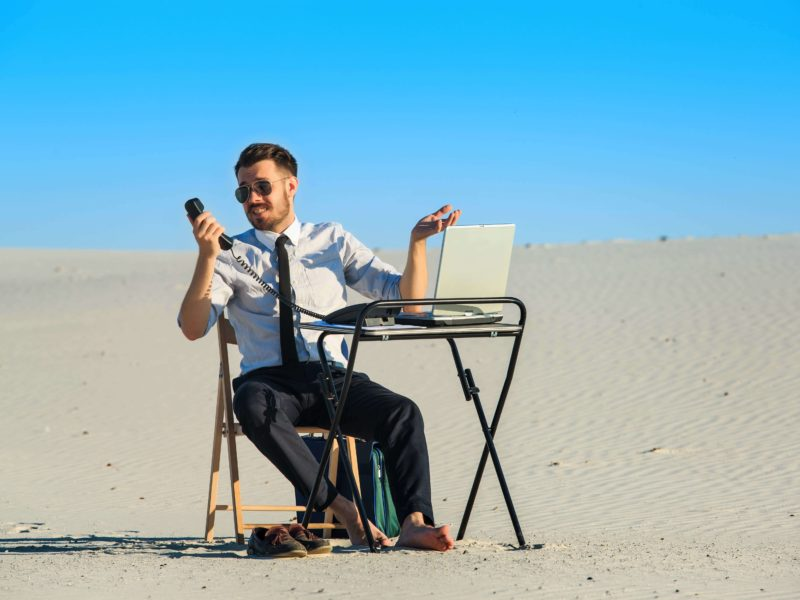Smart Worker In The Desert